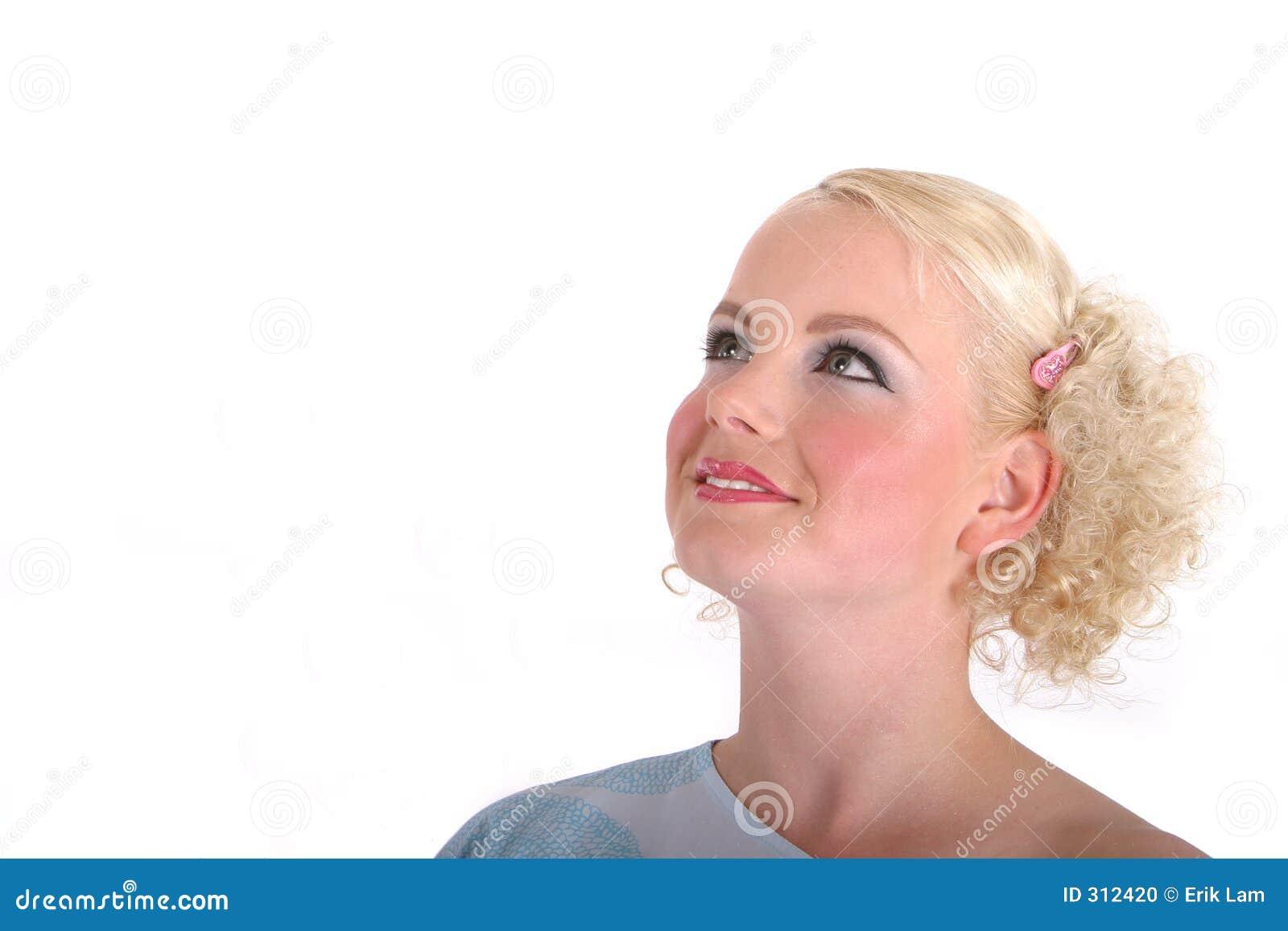 Kobieta się na blond