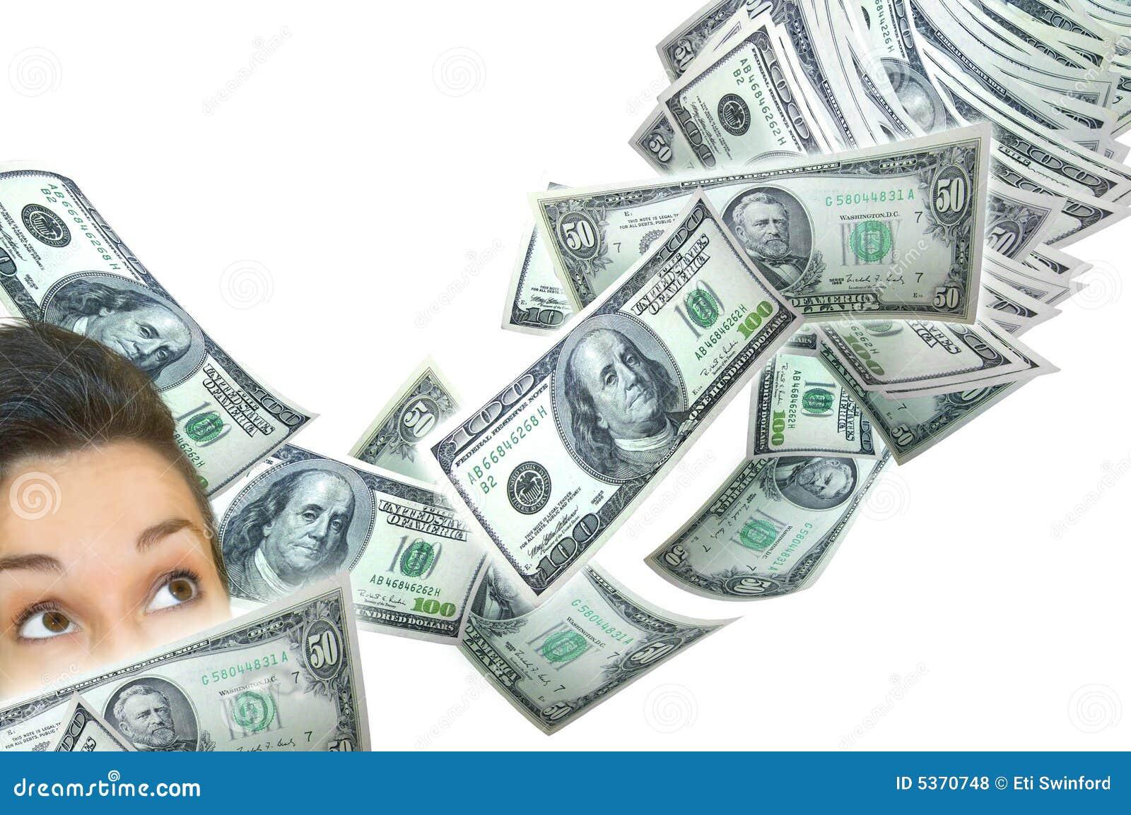 Kobieta się pieniądze