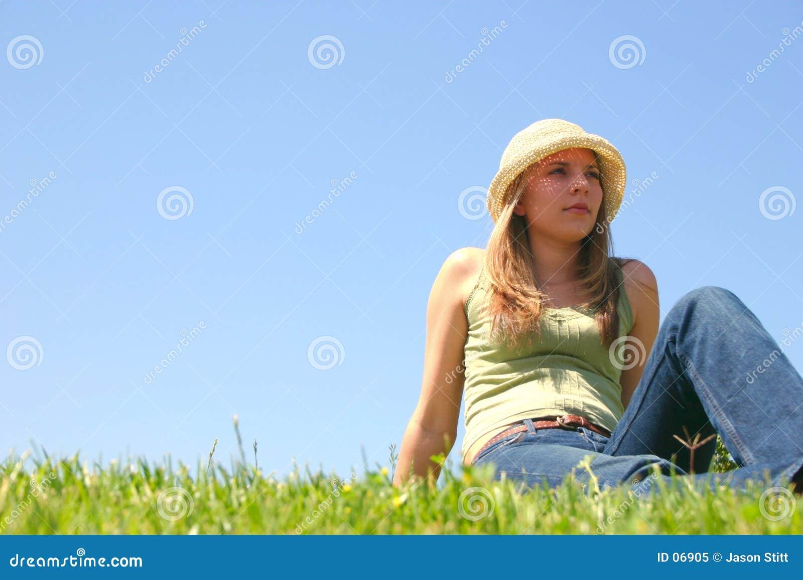 Kobieta trawy