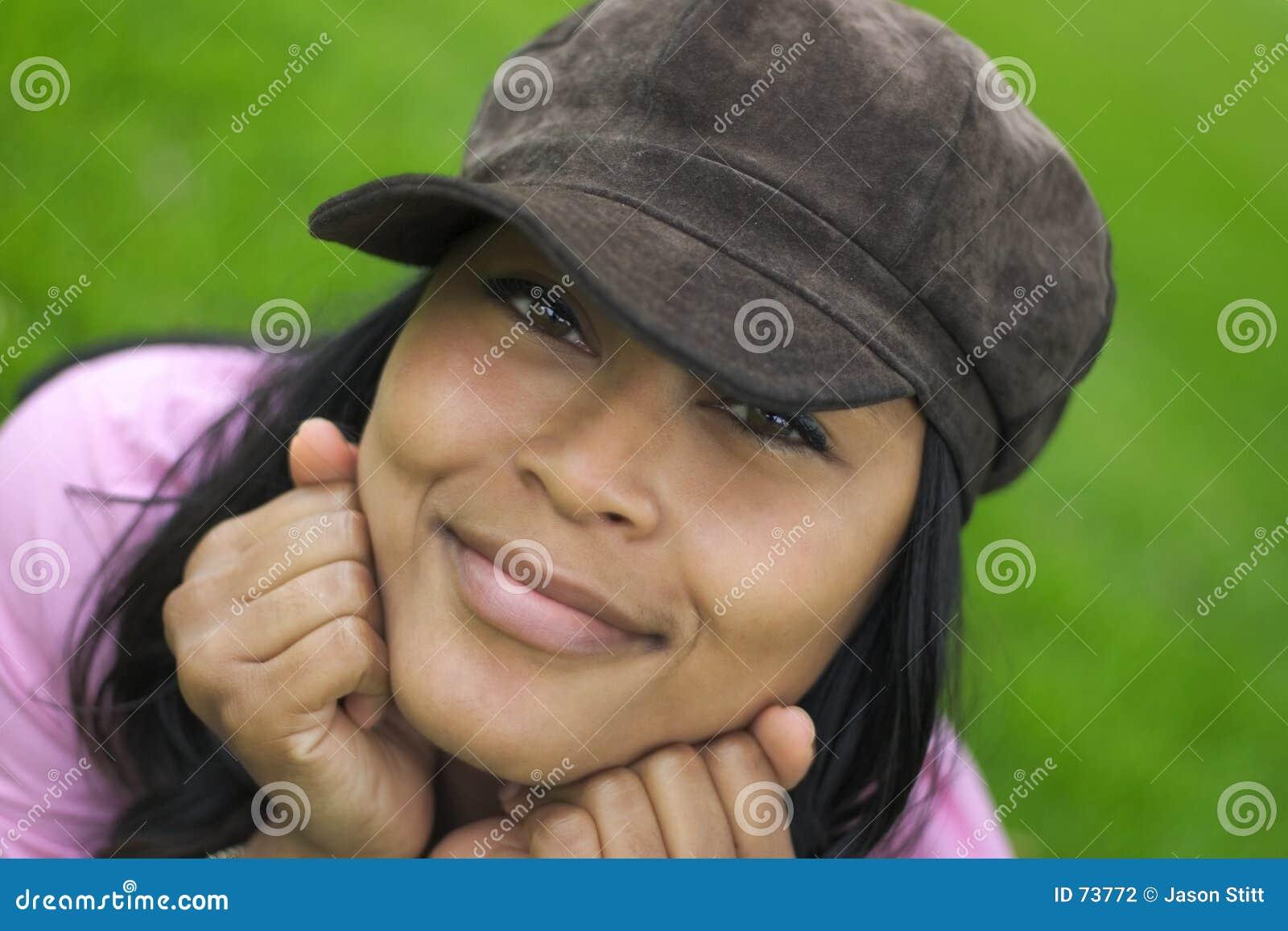 Kobieta uśmiech