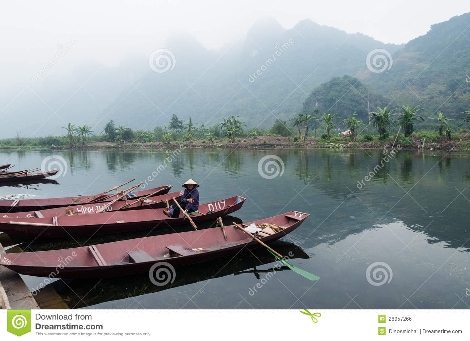 Kobieta w łodzi, Wietnam