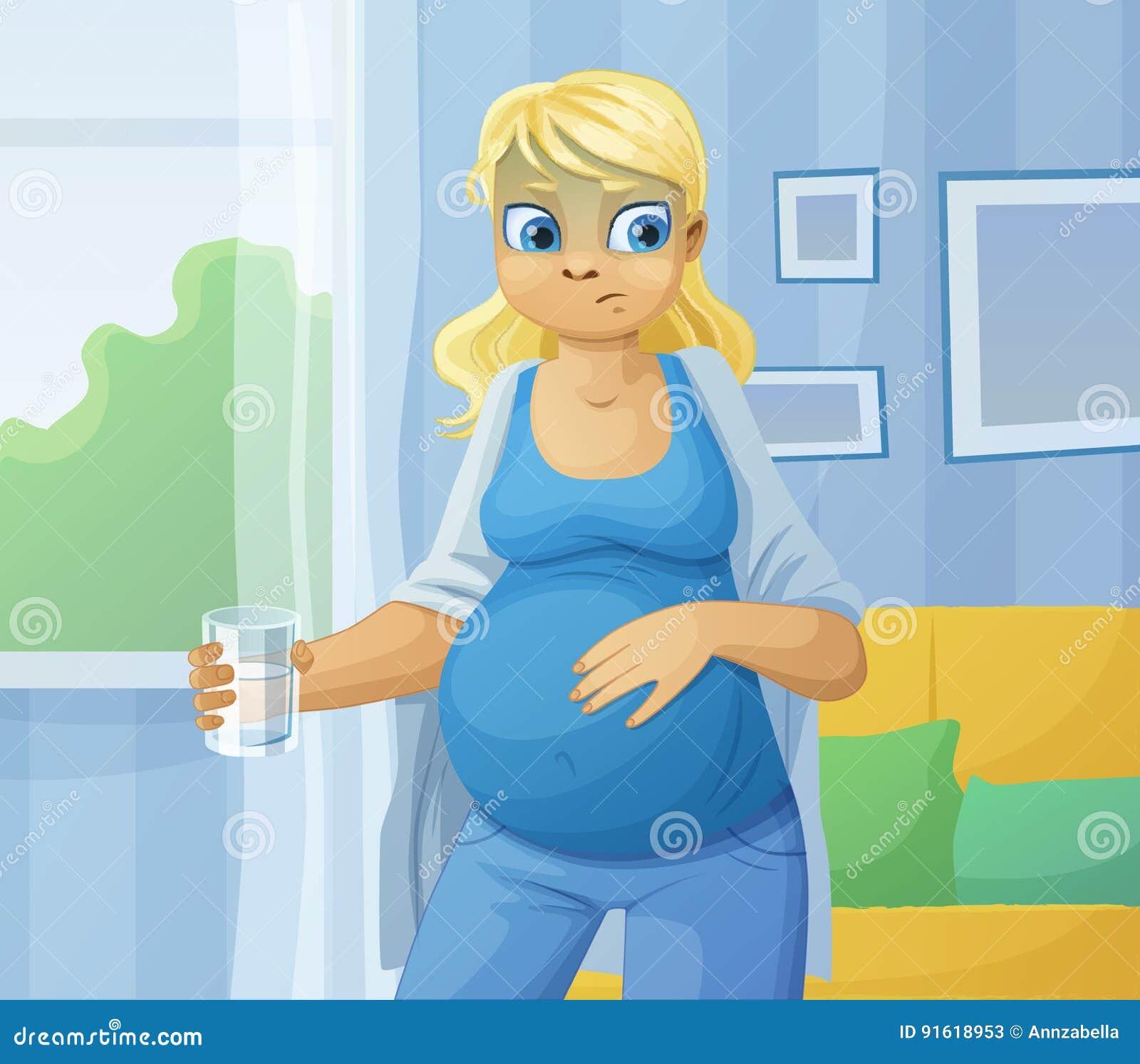 Kobieta w ciąży odczucia choroba
