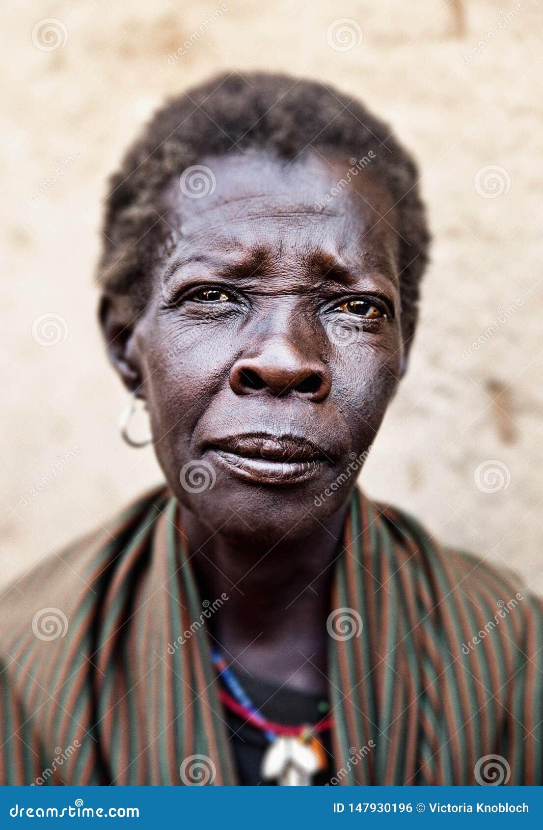 Kobieta w Kotido w Uganda