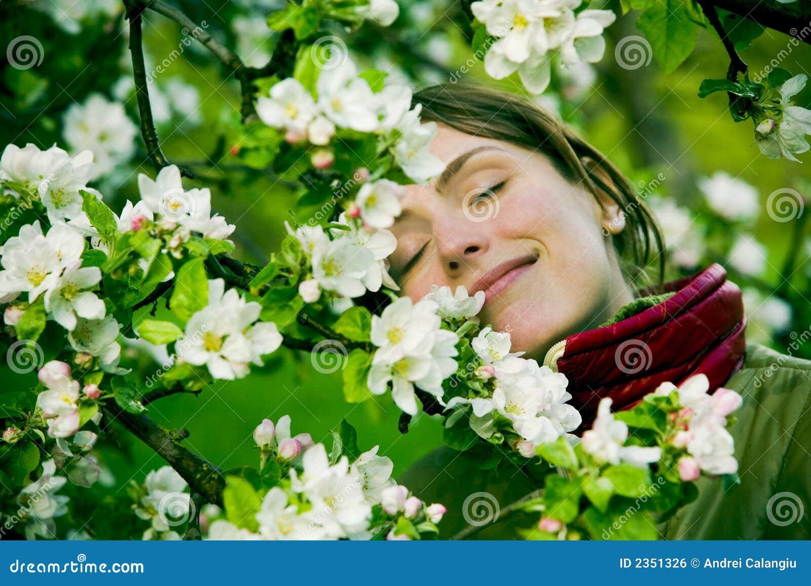 Kobieta wiosny