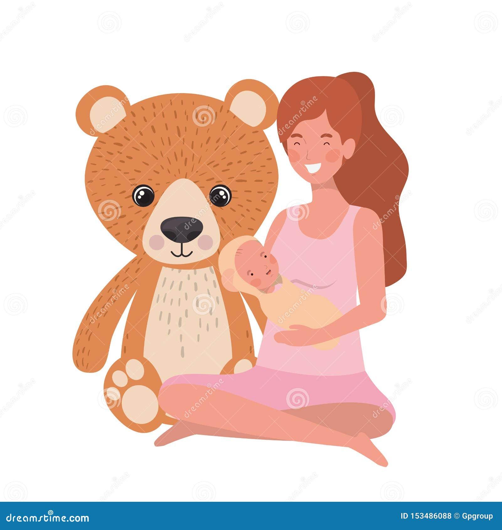 Kobieta z nowonarodzonym dzieckiem w ona ręki
