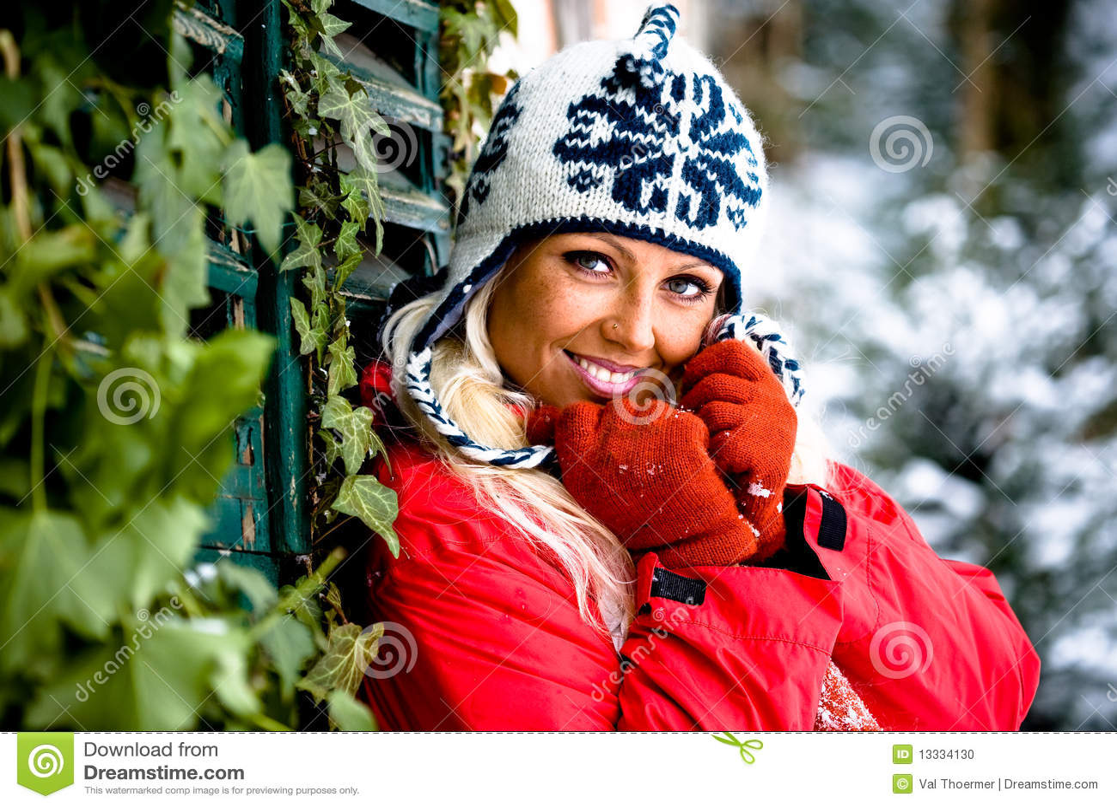 Kobieta zima portret