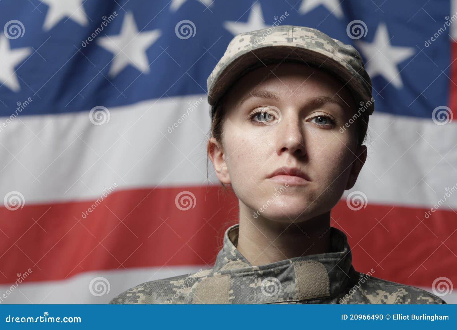 Kobiety flaga przodu żołnierz my