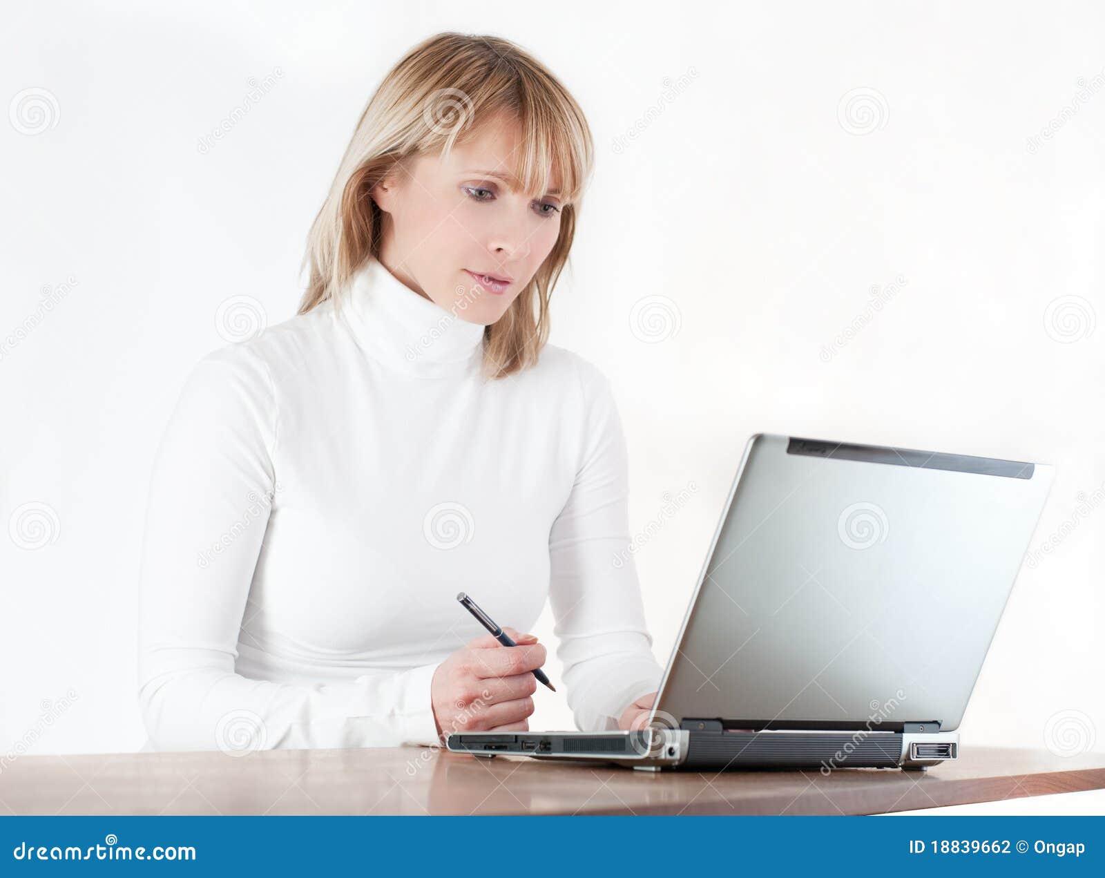 Kobiety komputerowy działanie