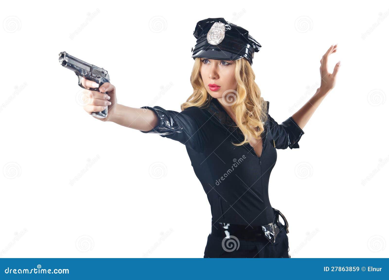Kobiety młoda atrakcyjna policja