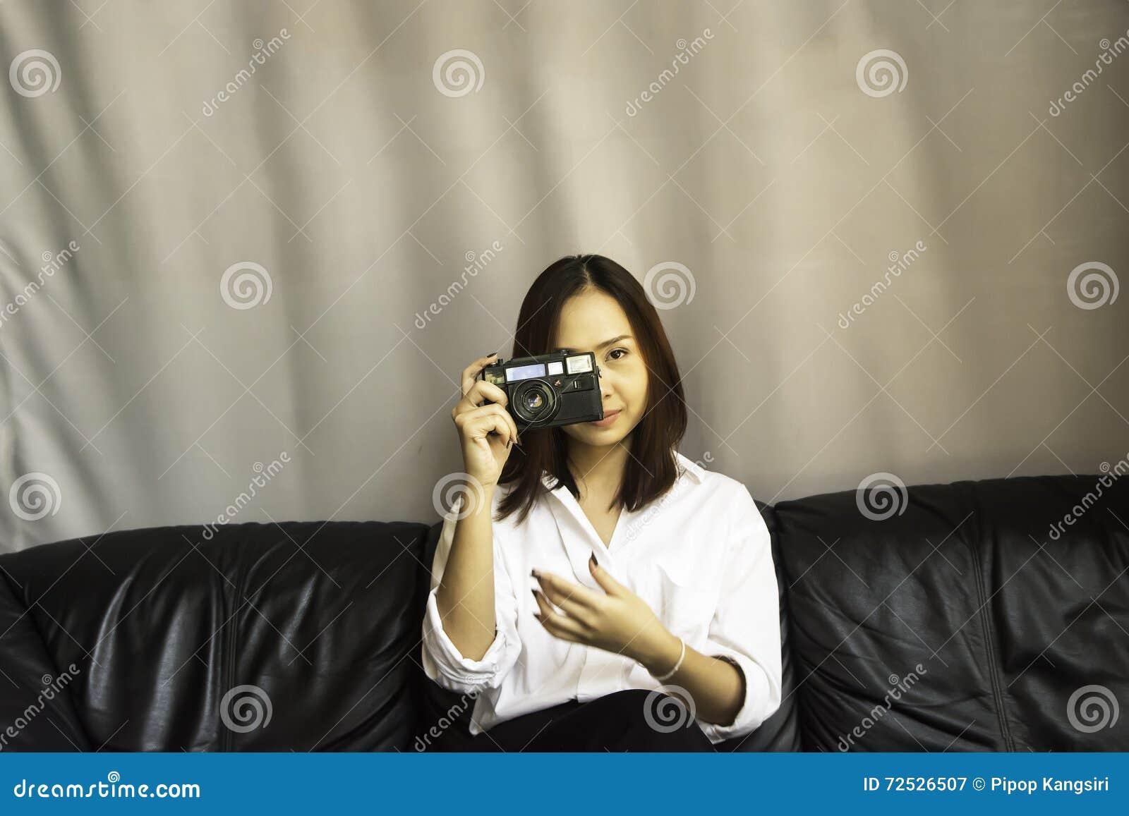 Kobiety mienia kamera