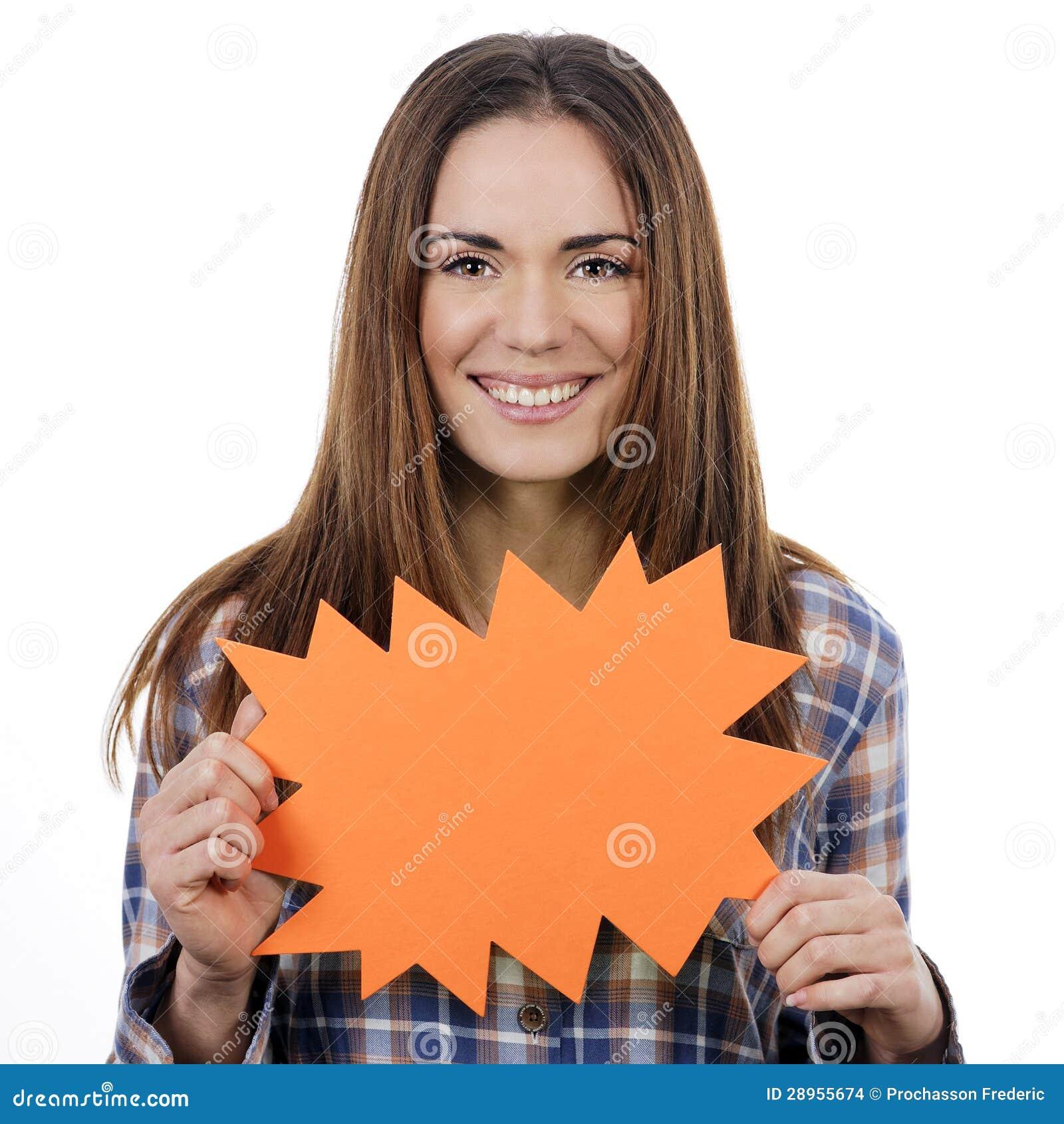 Kobiety mienia pomarańczowy panel