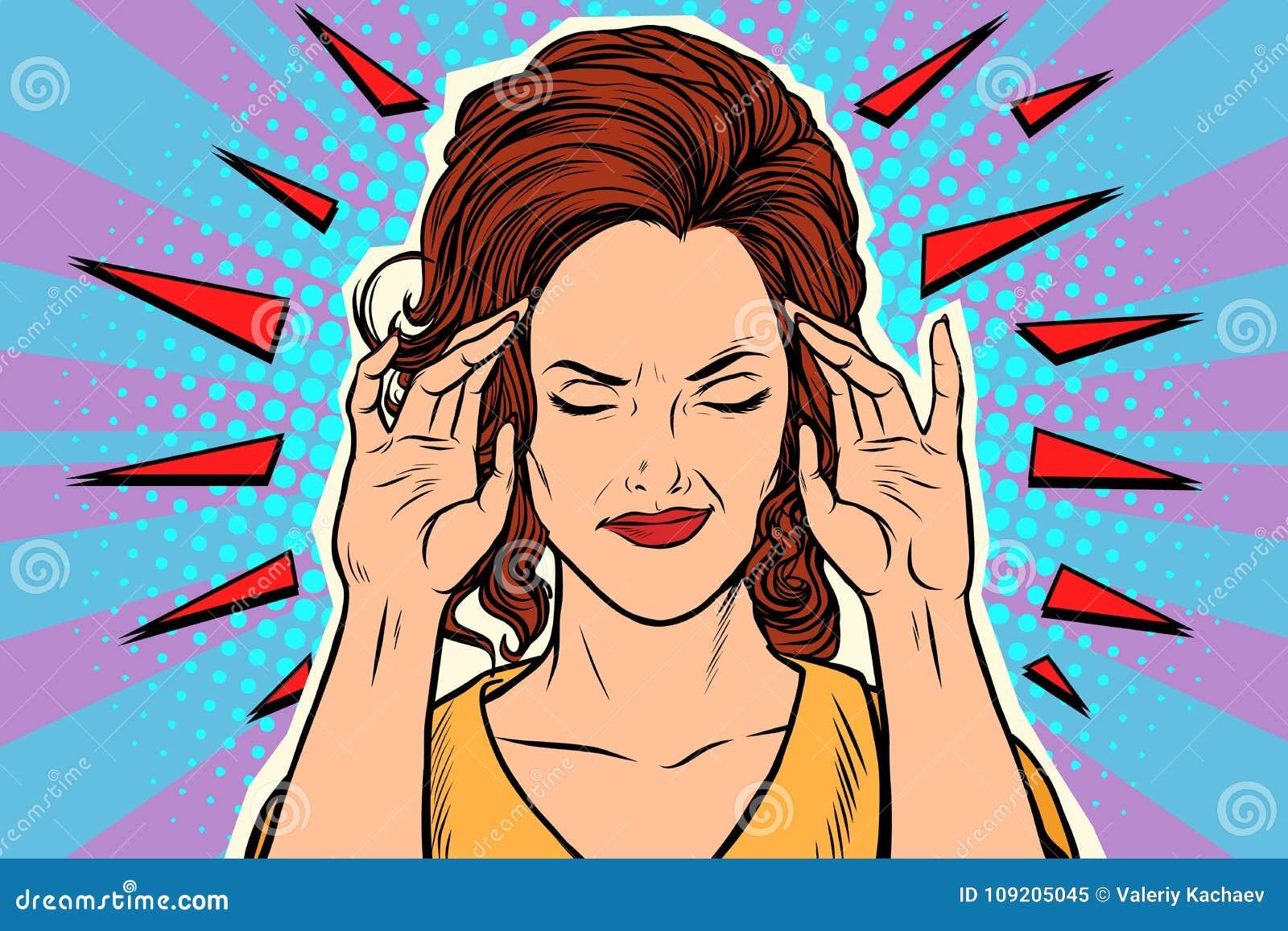 Kobiety migrena, medyczny objaw choroba