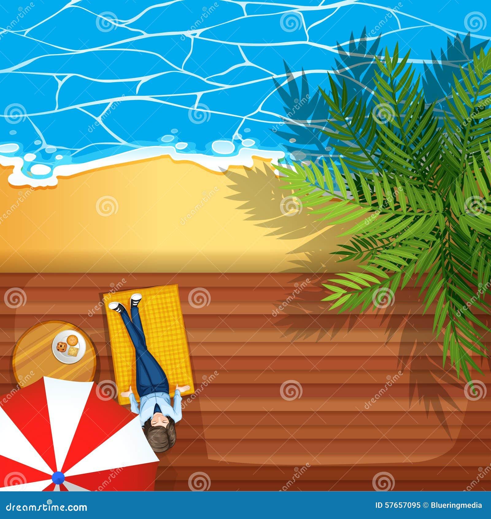 Kobiety obsiadanie plażą