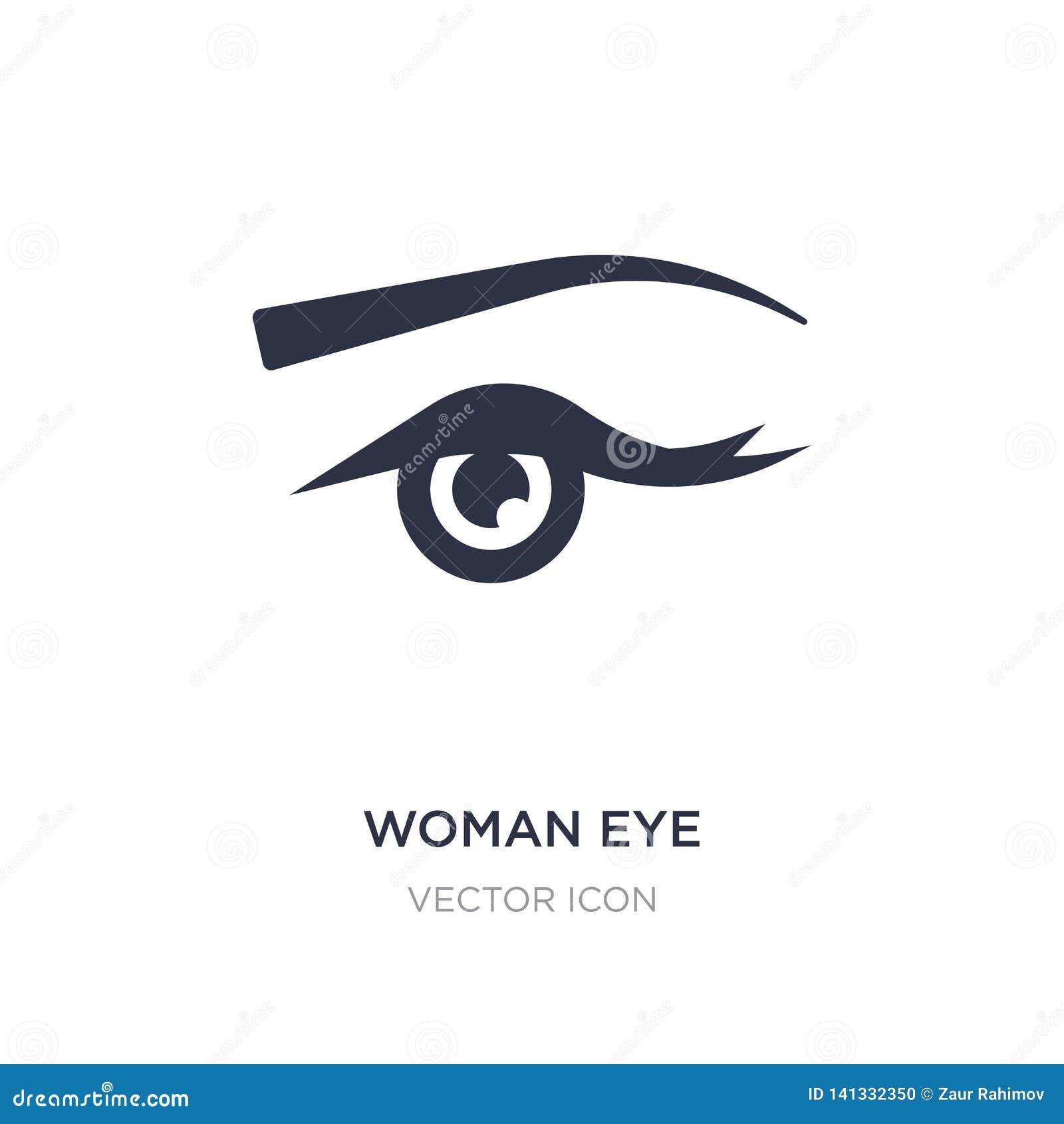 Kobiety oka ikona na białym tle Prosta element ilustracja od piękna pojęcia