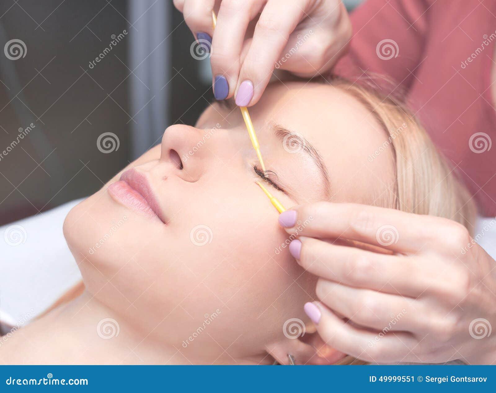 Kobiety oko z długimi rzęsami Rzęsy rozszerzenie