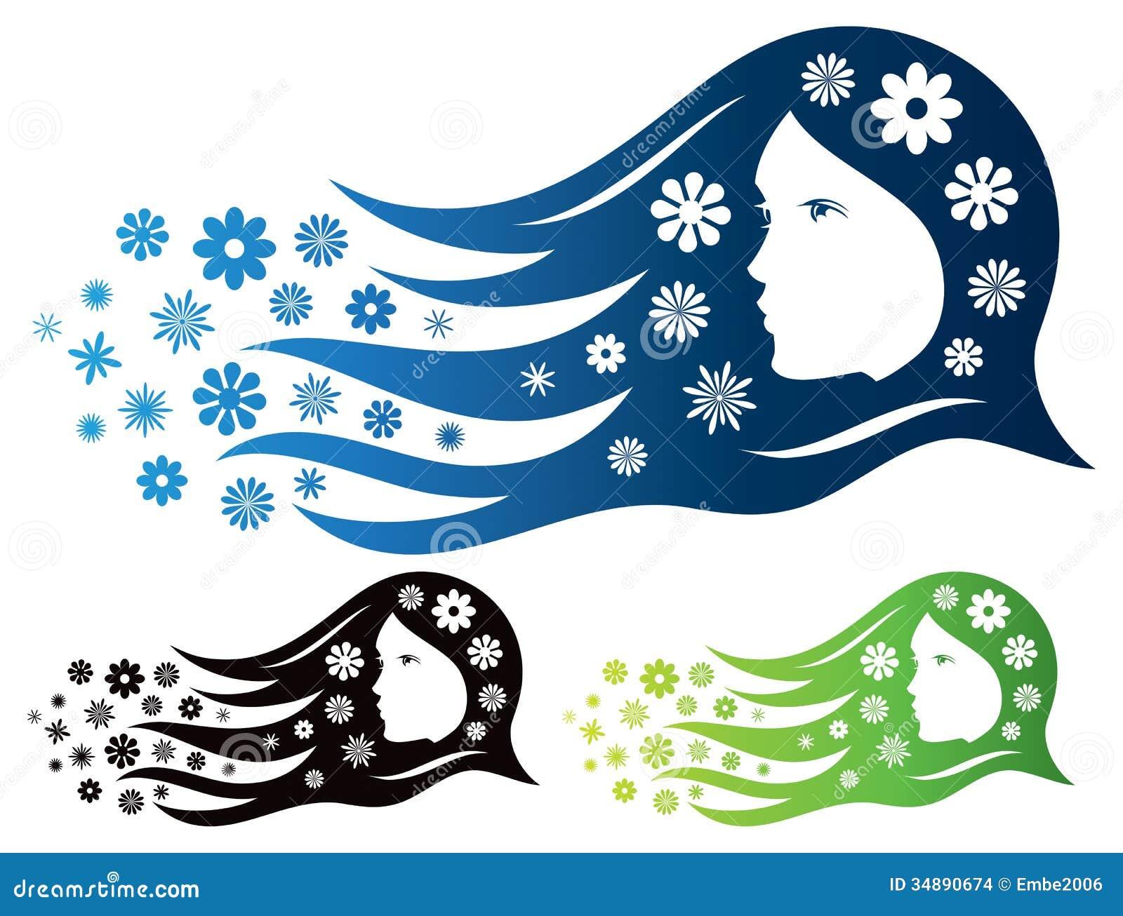 Kobiety piękna logo