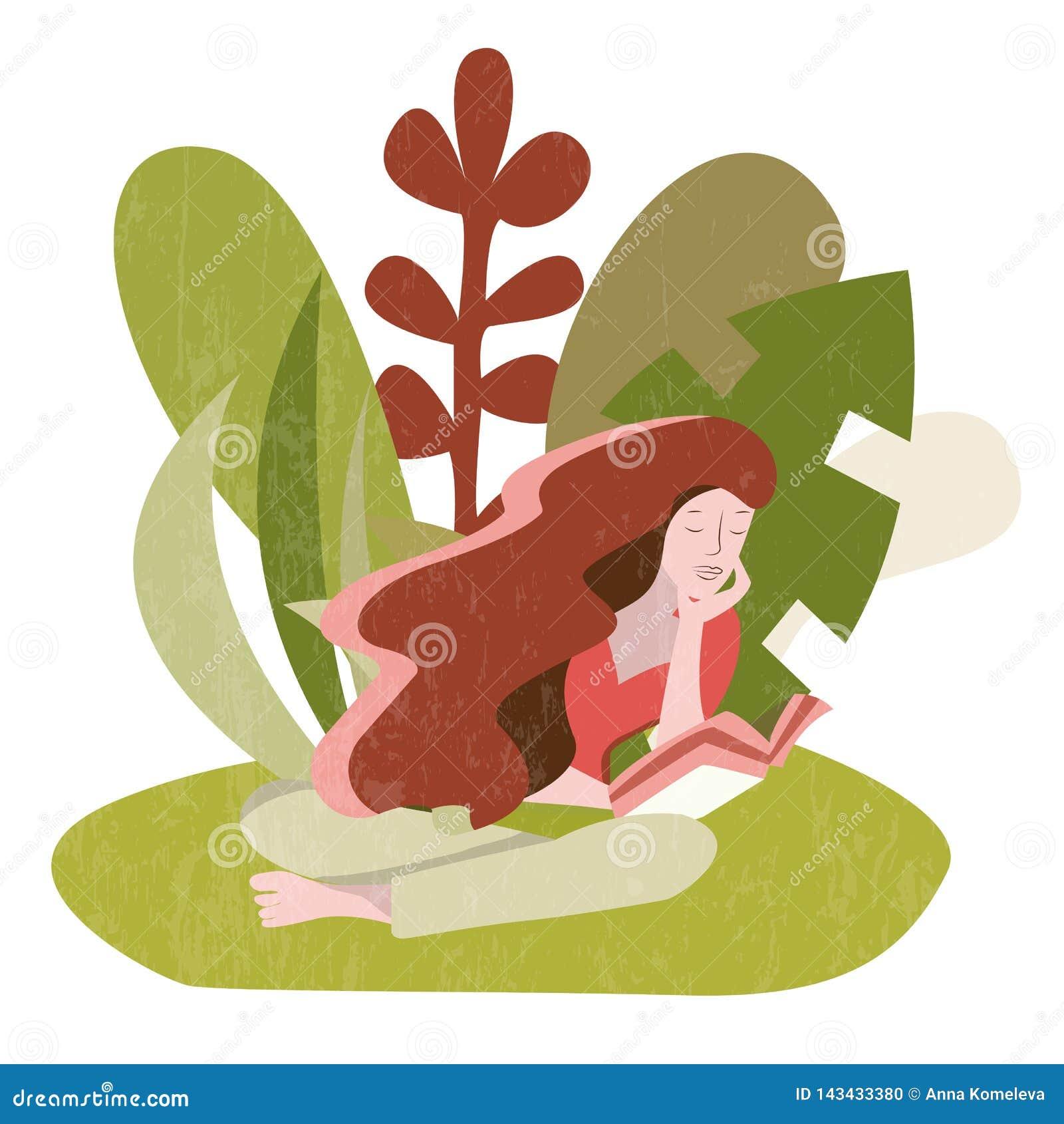Kobiety siedzący czytanie książka outdoors