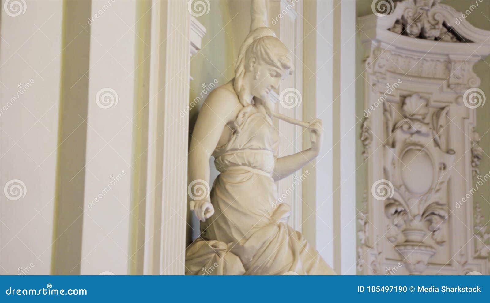 Kobiety statua Bielu marmuru głowa młoda kobieta Artemis Bielu marmuru głowa młoda kobieta
