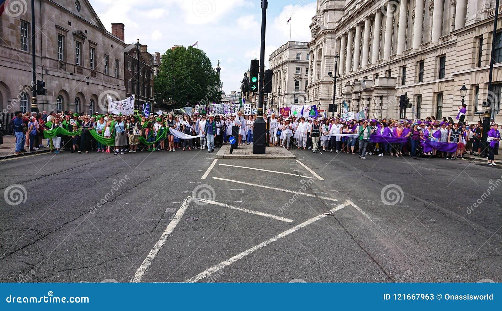 Kobiety wolności marsz London England