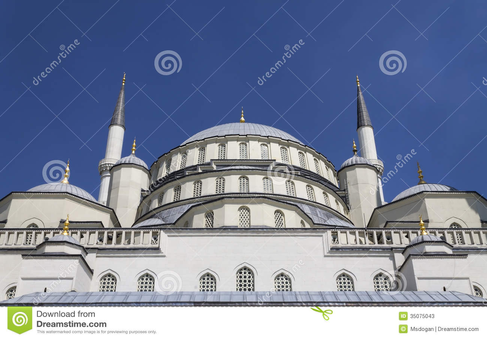 Mosque Detail: Kocatepe-Detail Stock Photos