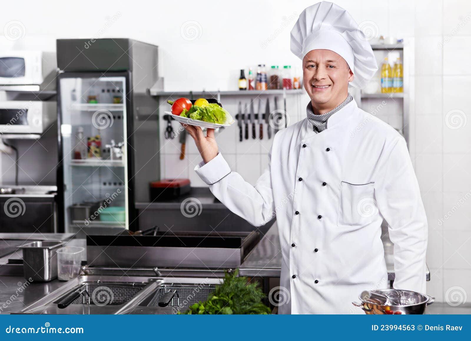 Koch in der uniform stockbild bild von kochen chefs for Koch von bonanza