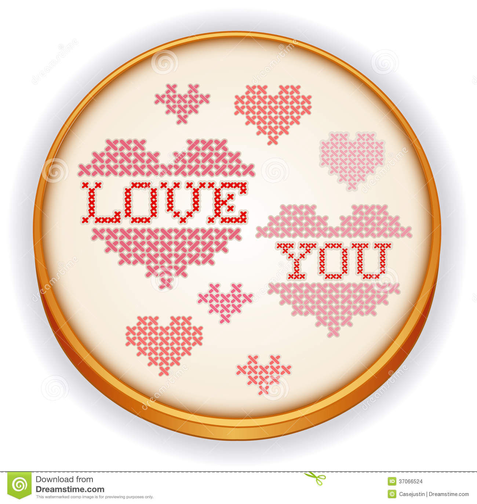 Kocha Ciebie broderia, Drewniany Szwalny obręcz