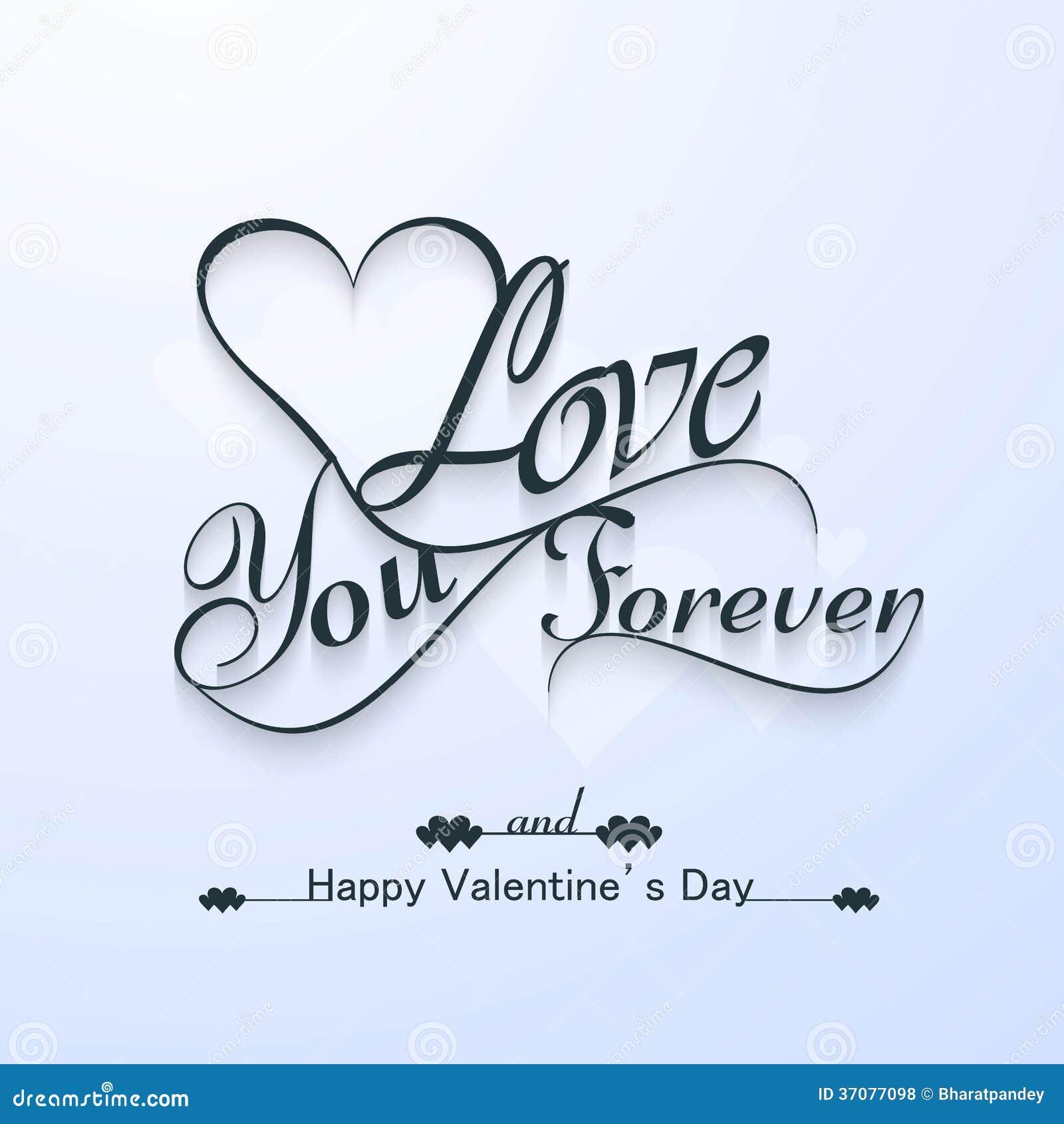 Download Kocha Ciebie Dla Szczęśliwej Valentine Dnia Pięknej Karty Na Zawsze Ilustracji - Ilustracja złożonej z list, dekoracyjny: 37077098