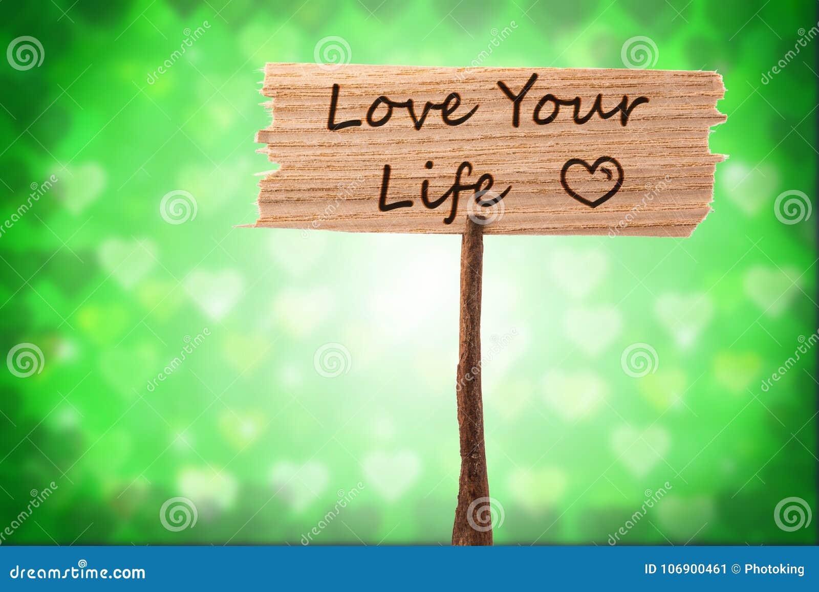 Kocha twój życie znaka