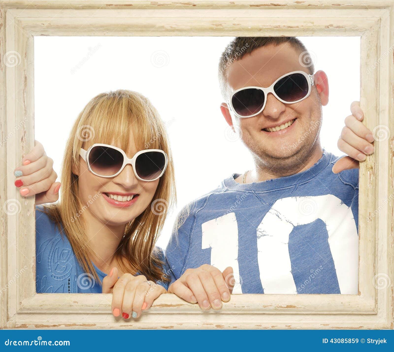 Kochająca para w obrazek ramie
