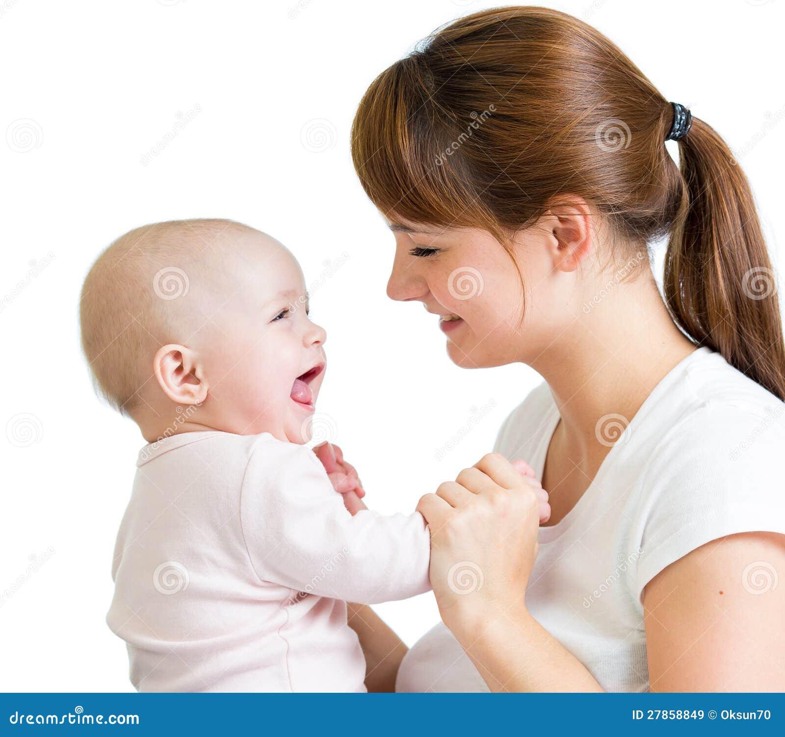 Kochający macierzysty bawić się z jej dziewczynką