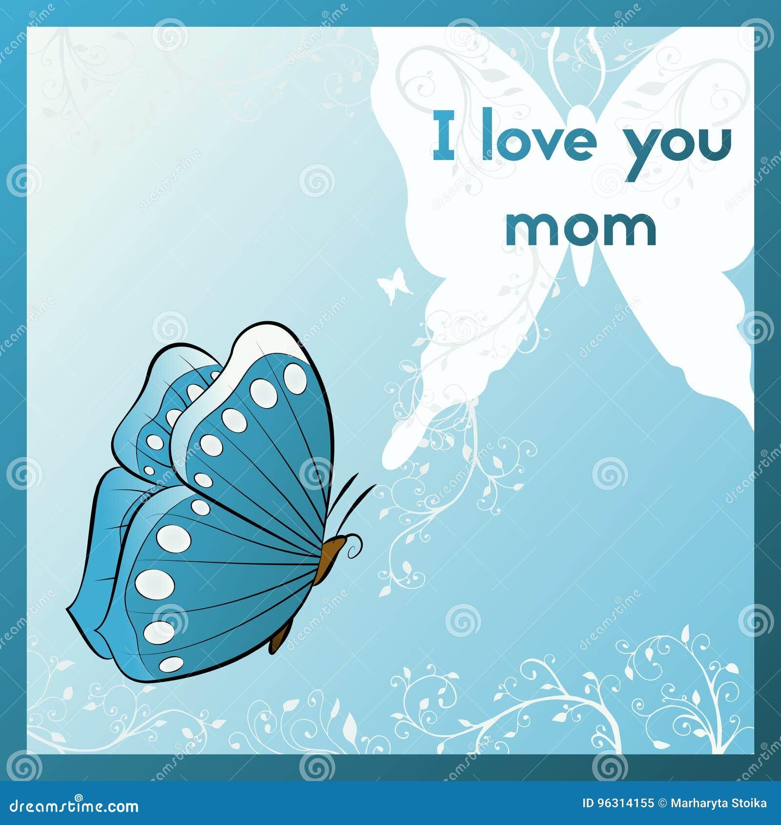 Kocham Mamę Karcianego Dzień Niemiecki Powitania Matki S Tekst