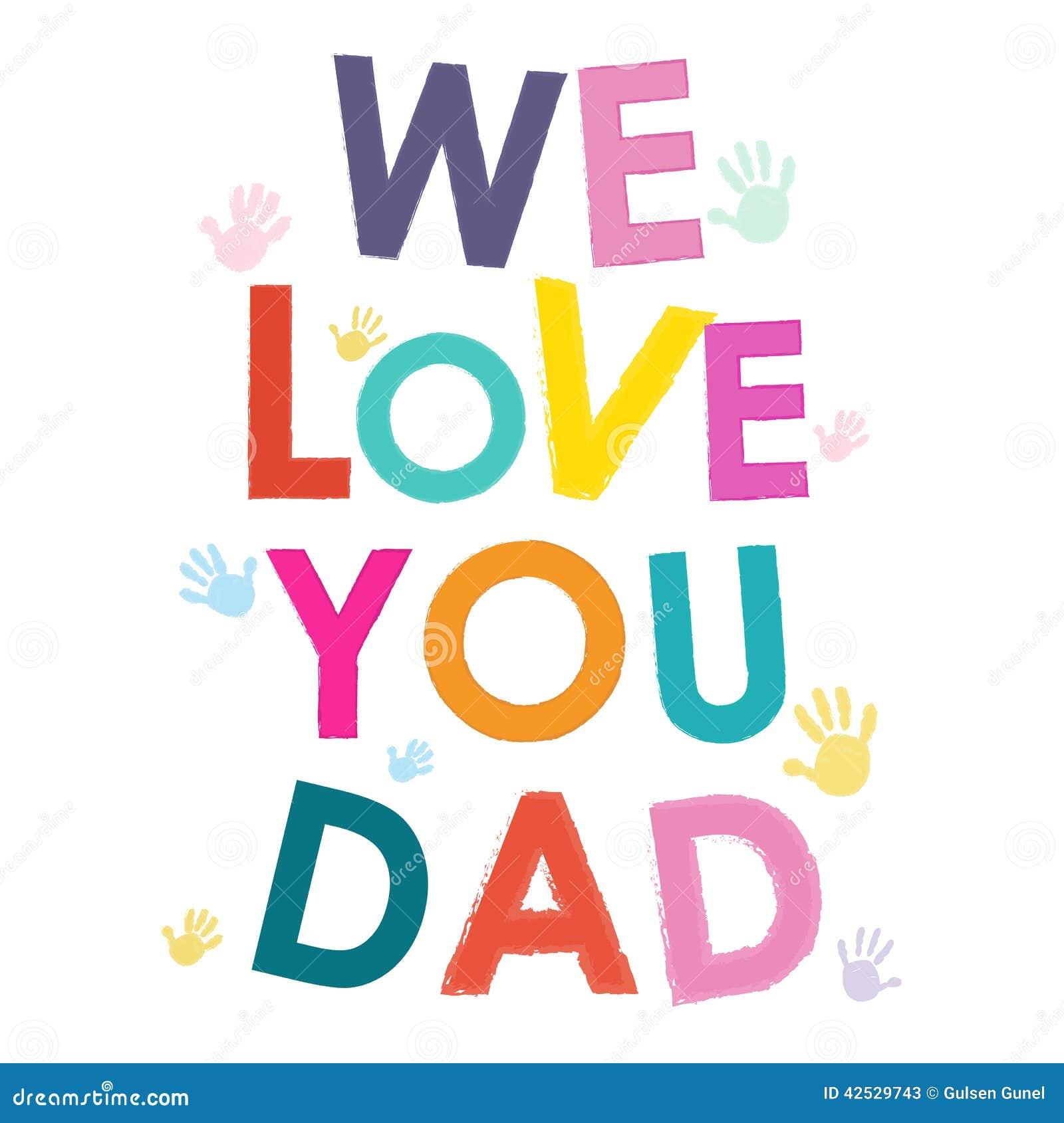 Kochamy was tata ojców dnia szczęśliwa karta