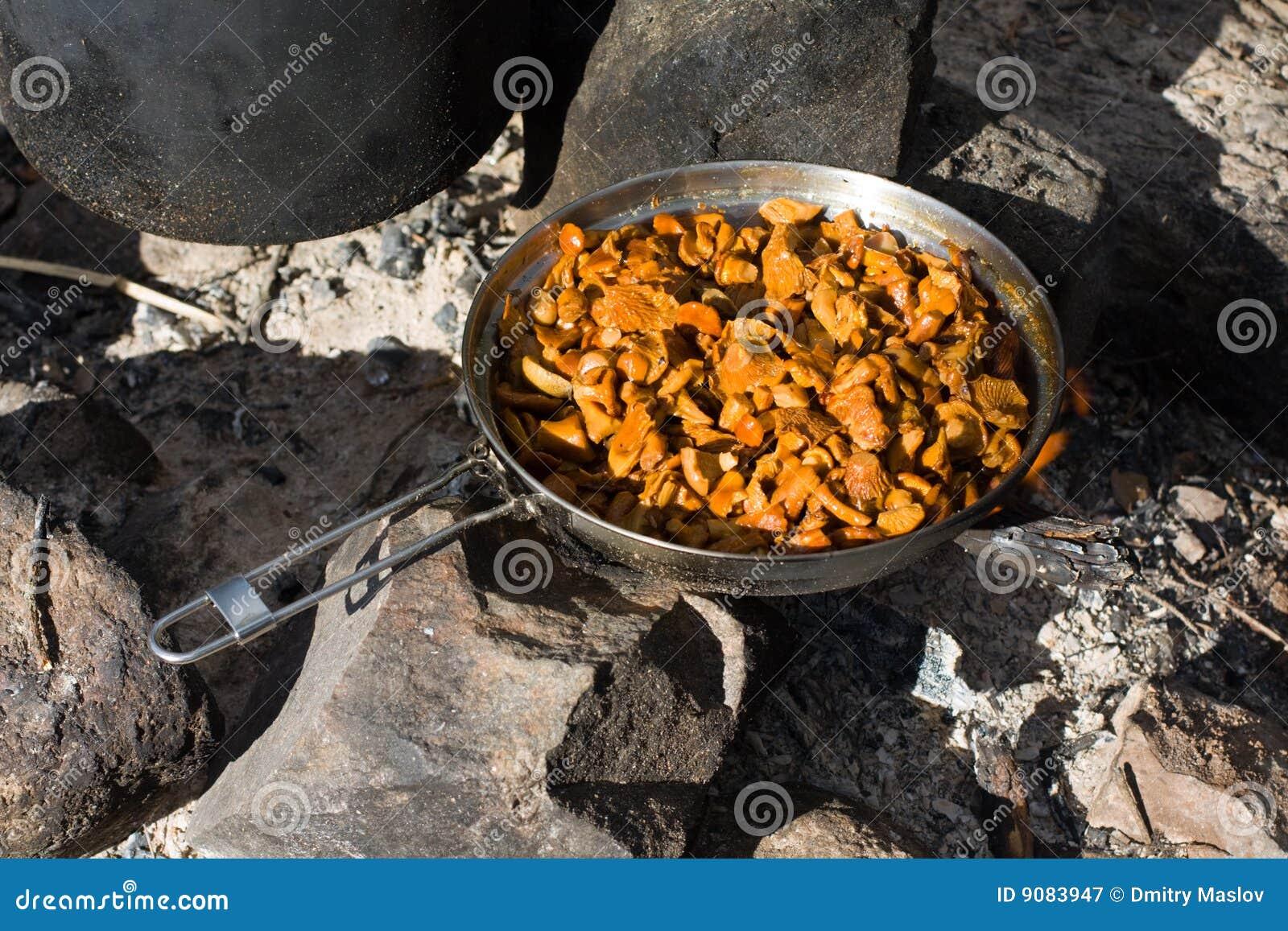 Kochen der Pfifferlinge