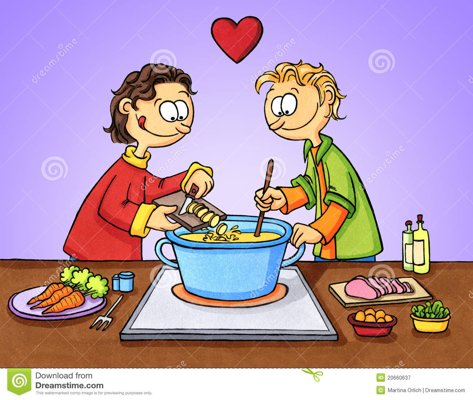 Kochen mit liebe stock abbildung illustration von potentiometer 20660637 - Kawaii kochen ...