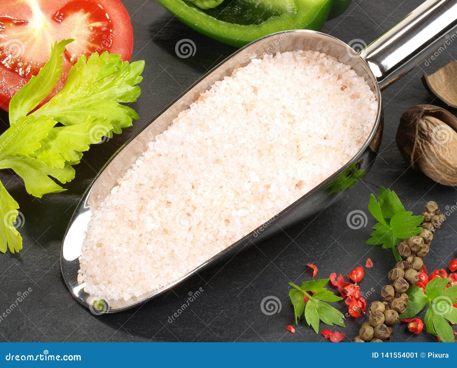 Kochen mit Seesalz - gesunde Nahrung