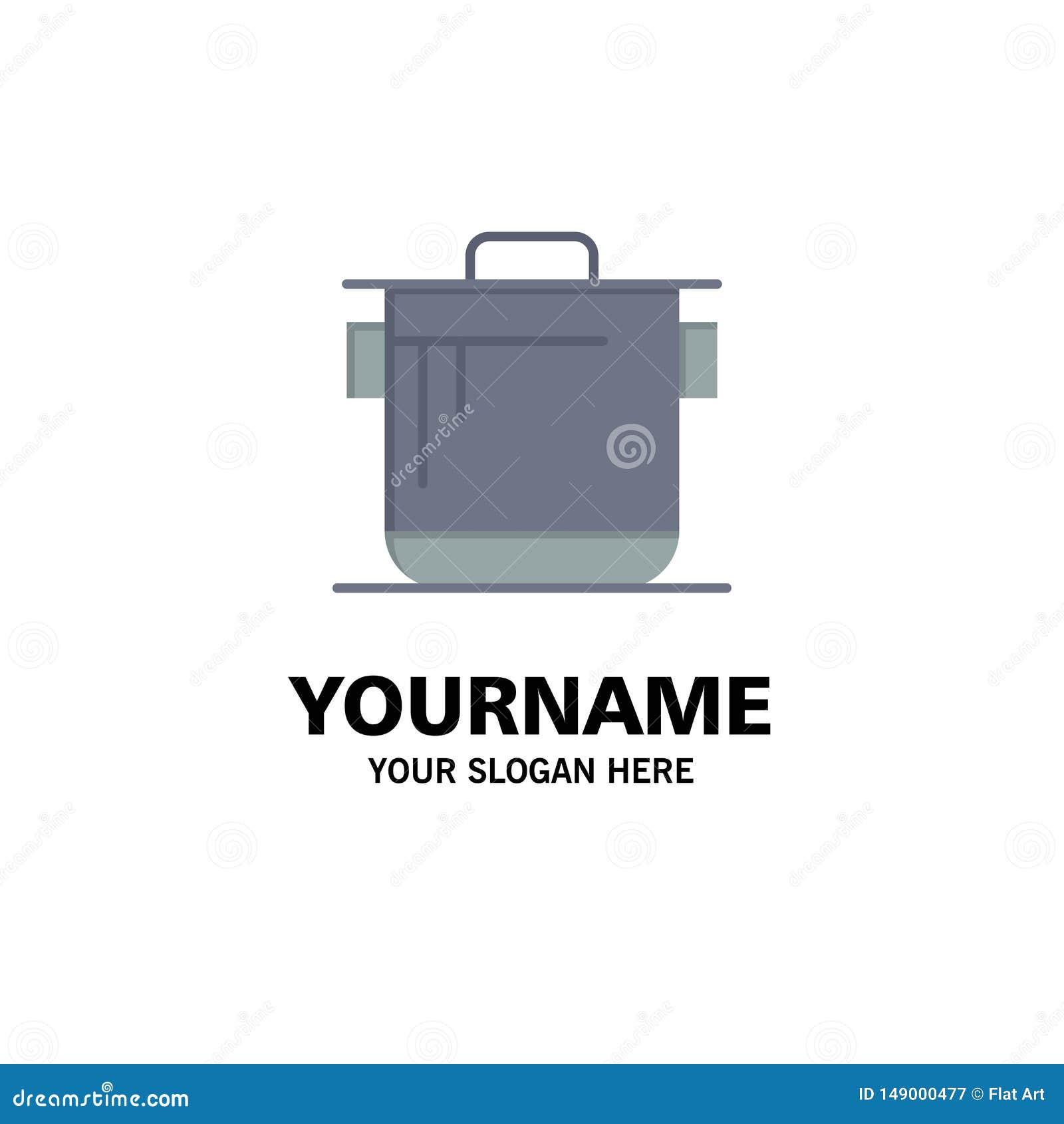 Kocher, Küche, Reis, Koch Business Logo Template flache Farbe