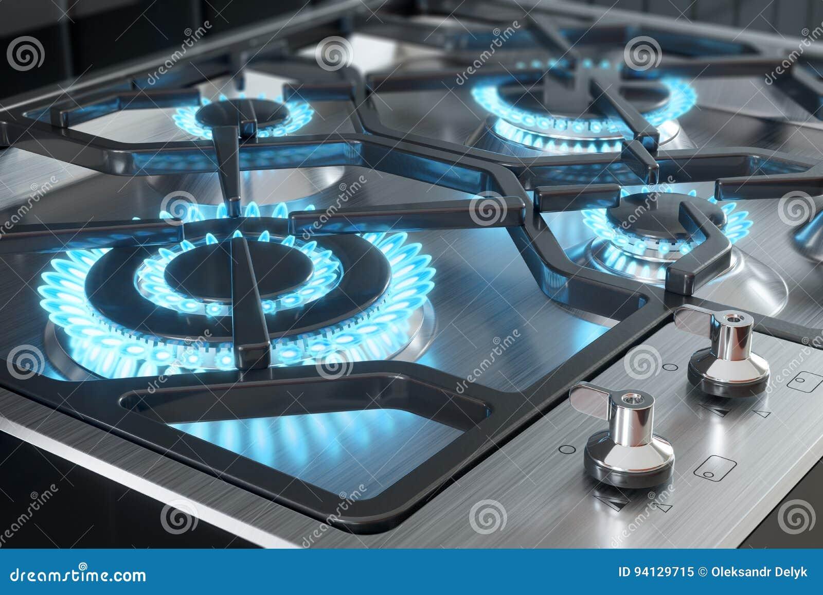 Kocher mit Brennernahaufnahme