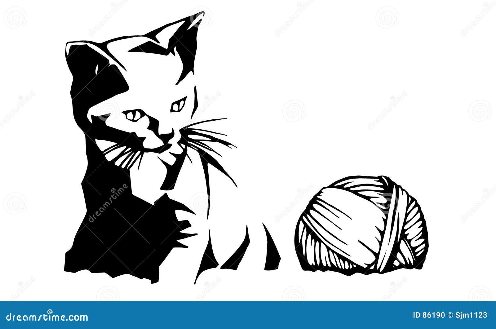 Kociaki ilustracyjna przędzy