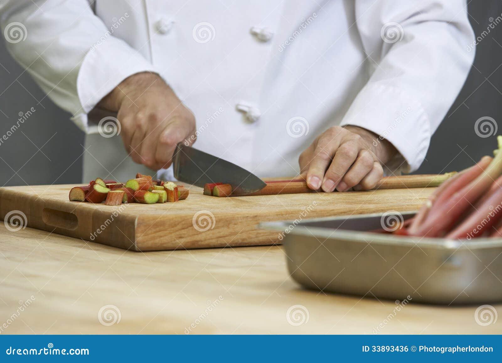 Kock Chopping Rhubarb