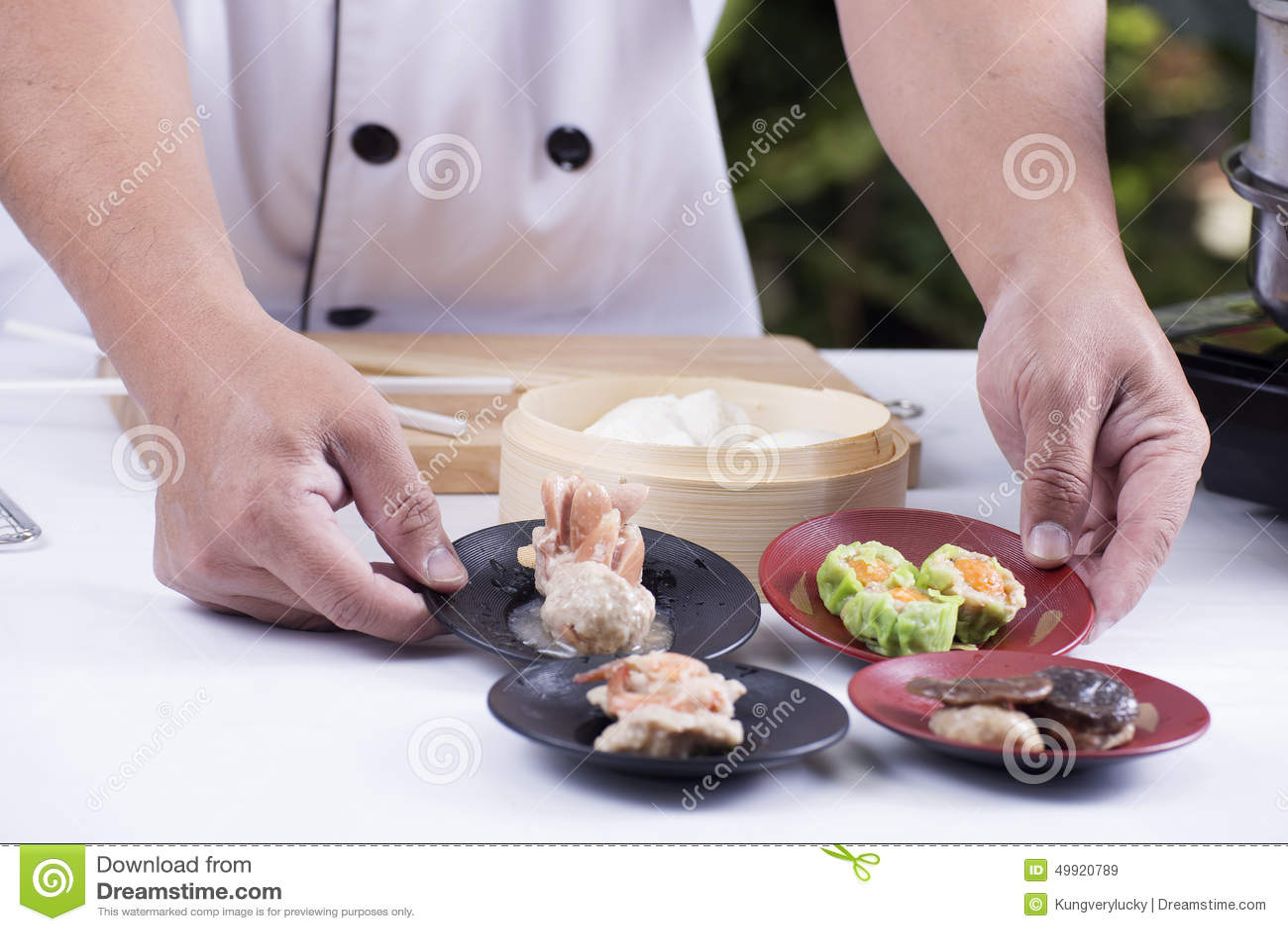 Kock framlagd kines Dim Sum