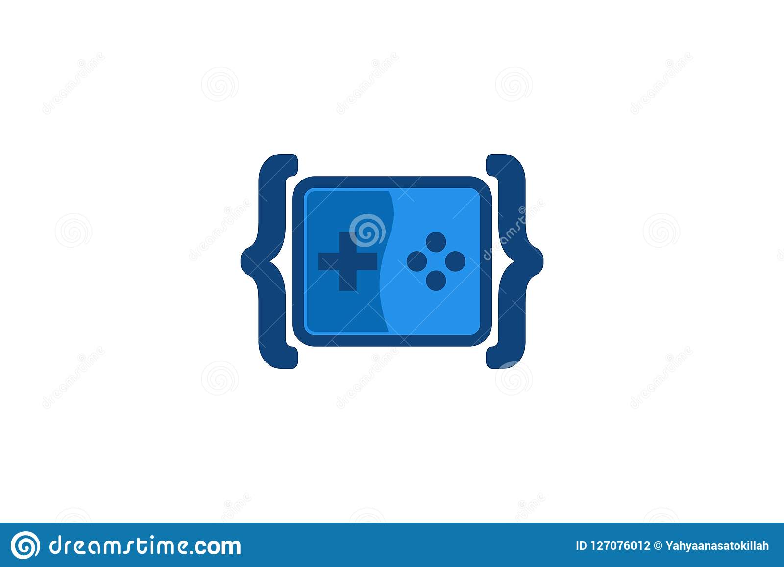 Kodieren Sie Spiel Logo Designs Inspiration, Vektor-Illustration