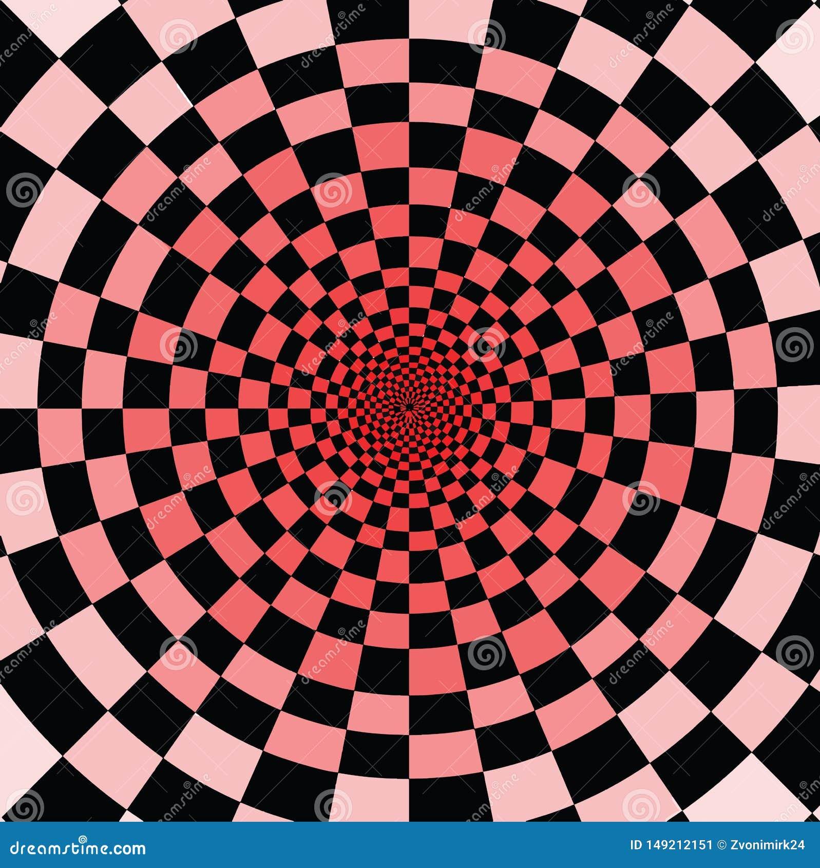 Koel om op het te letten Zwarte en rode vierkanten