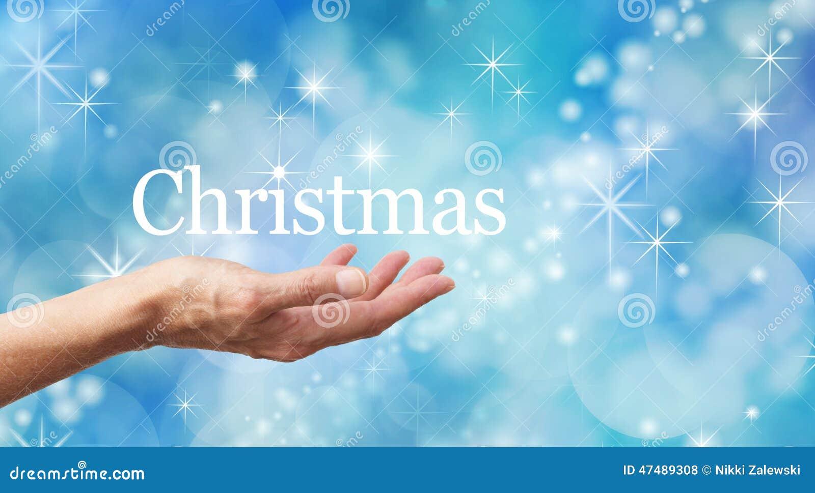 Koele Blauwe Fonkelende Kerstmisachtergrond