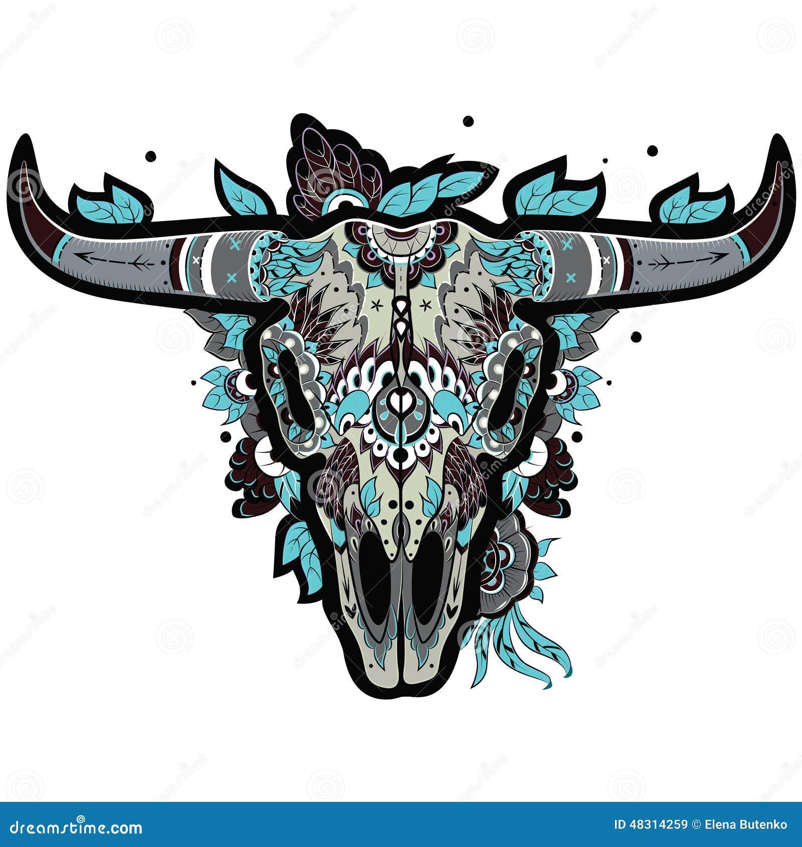 Koele buffelsschedel