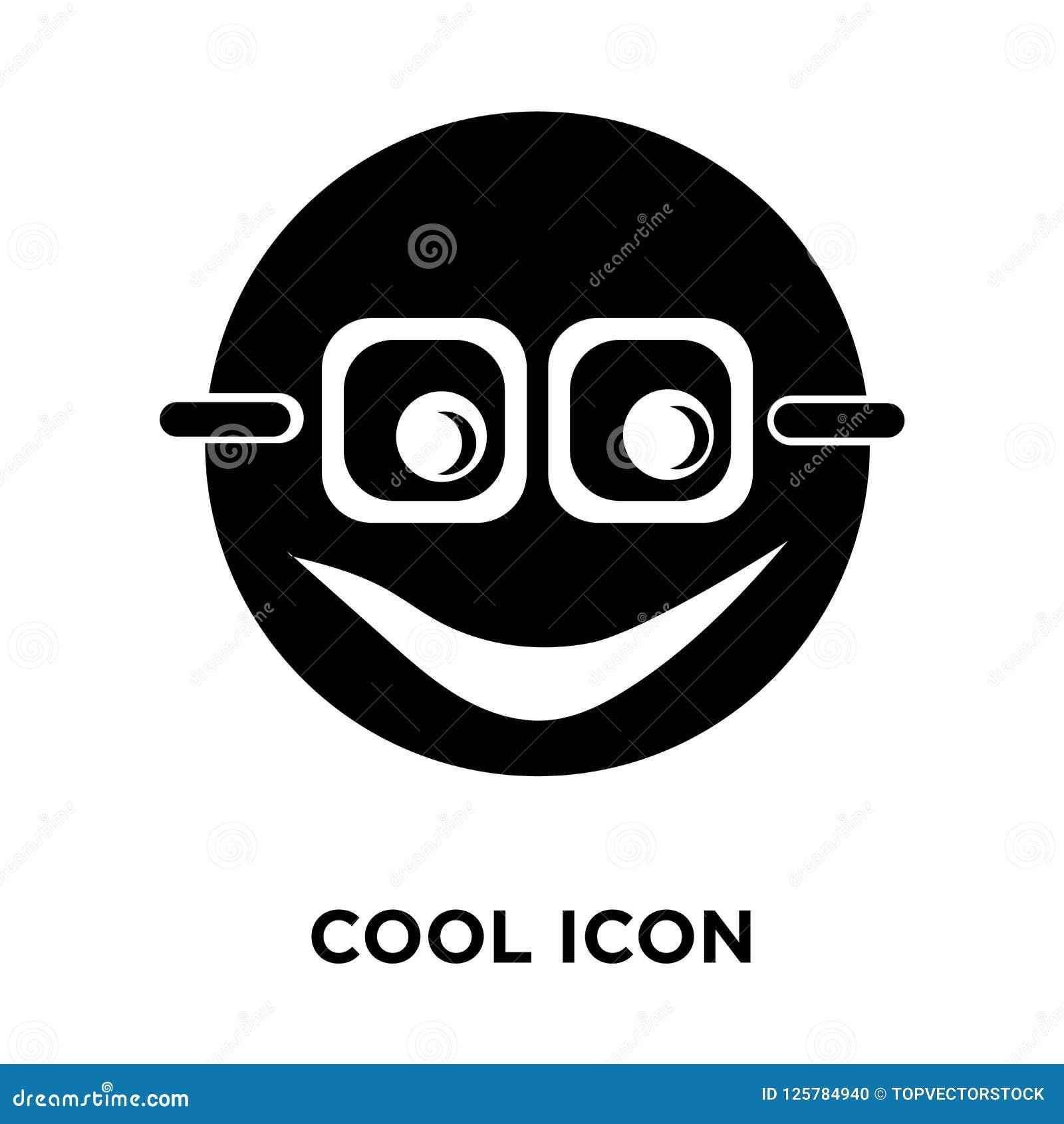 Koele die pictogramvector op witte achtergrond, embleemconcept wordt geïsoleerd van C