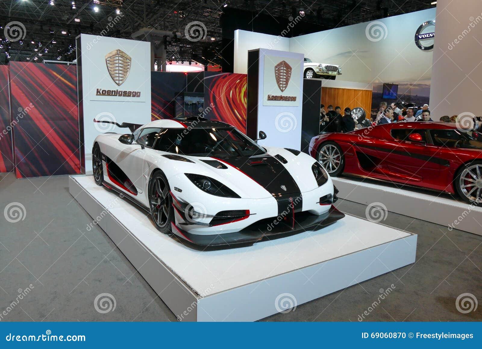 Koenigsegg One At New York International Auto Show JPG Editorial - Nyc car show javits center