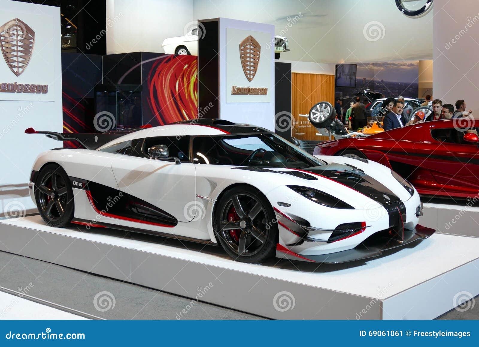 Koenigsegg One At New York International Auto ShowJPG Editorial - Nyc car show javits center