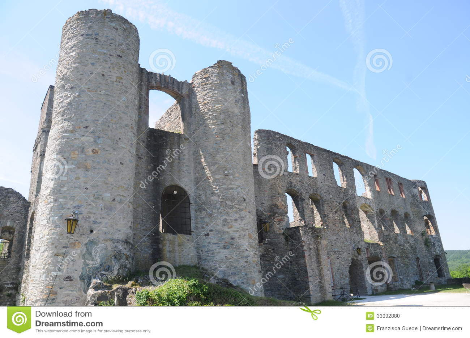 koenigstein im taunus castle ruin stock photo image 33092880. Black Bedroom Furniture Sets. Home Design Ideas