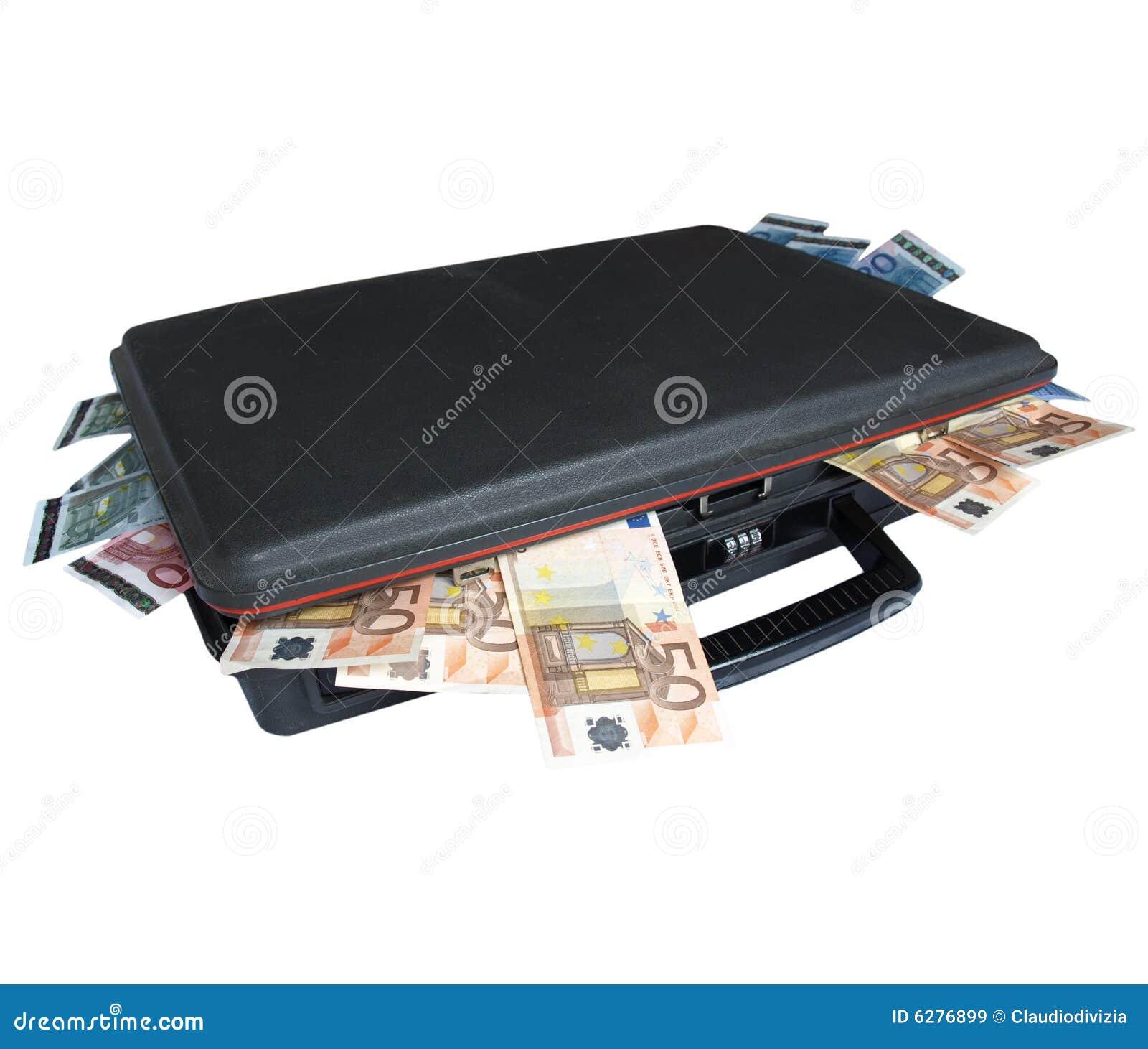 koffer mit geld stockbild bild von querneigung beutel 6276899. Black Bedroom Furniture Sets. Home Design Ideas
