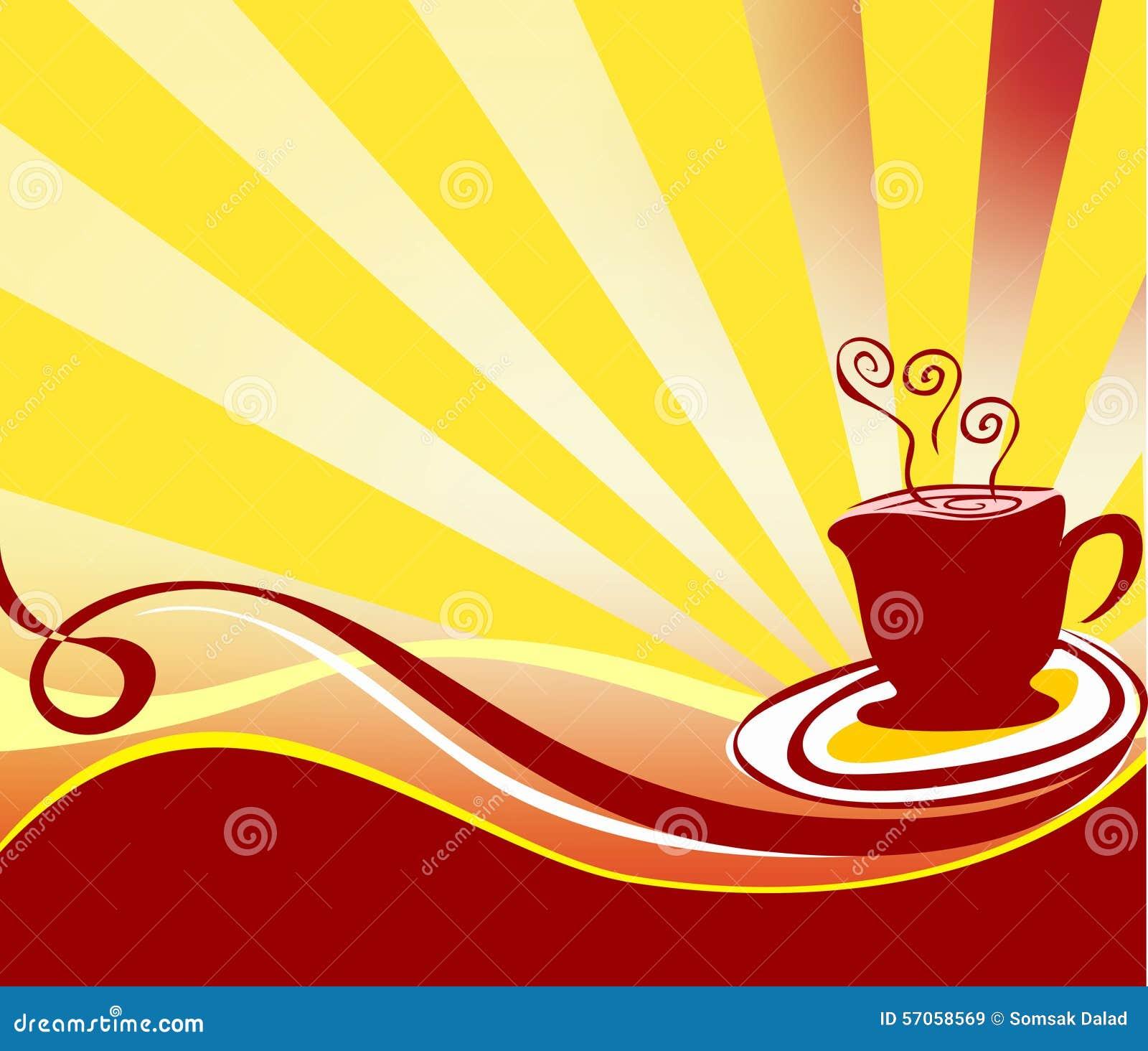 Koffie achtergrondembleemvector